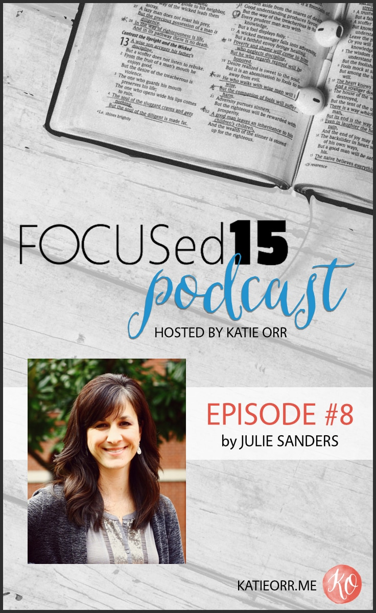 FOCUSed15 Podcast {Julie Sanders}