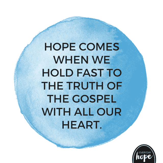 hold fast to the gospel