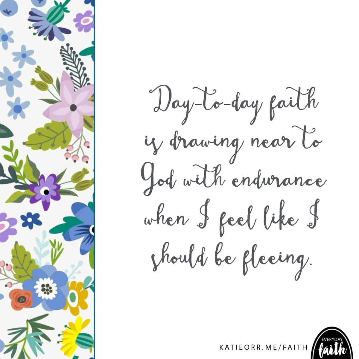 day to day faith is drawing near