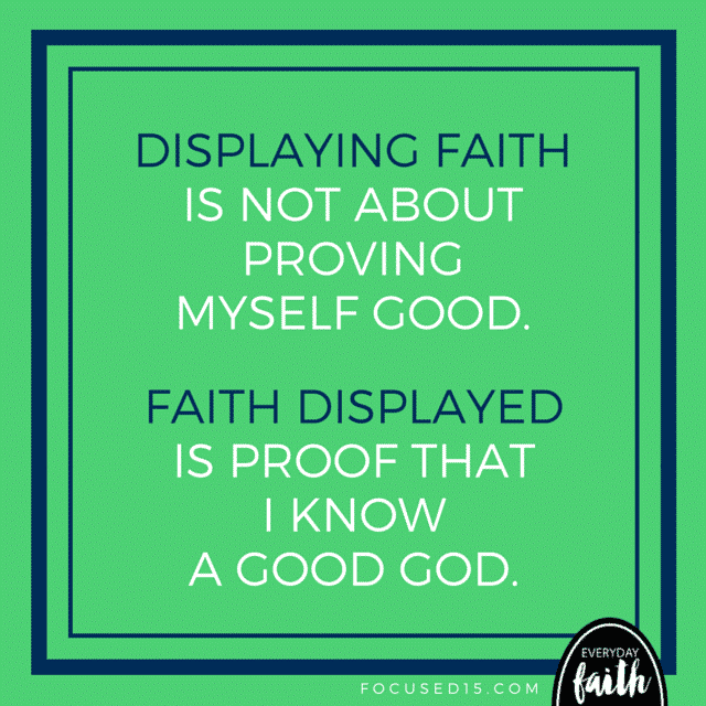 faith is proof